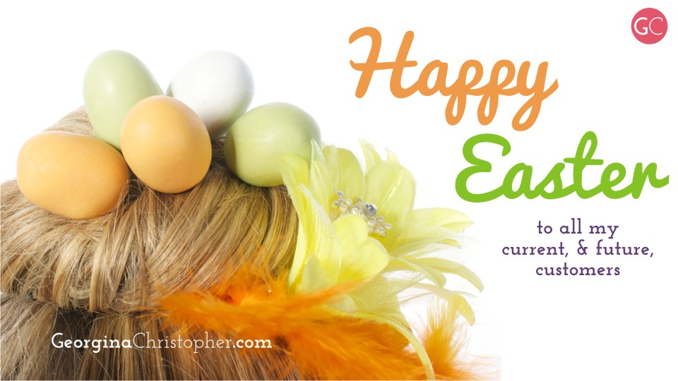 Happy Easter from GeorginaChistopher.com South Wales Mobile Hairdresser Weddings Bridal Hair