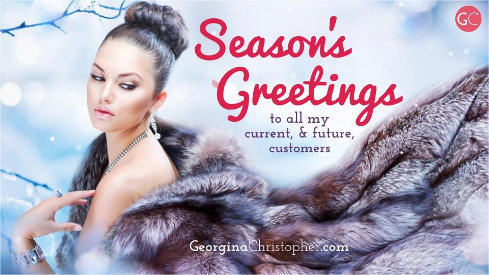 Season's Greetings from GeorginaChistopher.com South Wales Mobile Hairdresser Weddings Bridal Hair